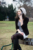 Young woman talking on the phone Royalty Free Stock Photos