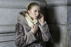 Young Woman talking on Phone Stock Photos