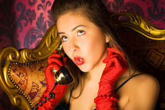 Young woman talking on phone Stock Photography