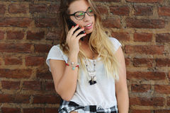 Young woman talking on the phone Stock Image
