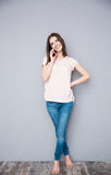 Young woman talking on the phone Stock Photography