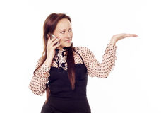 Young woman talking on the phone Royalty Free Stock Photography