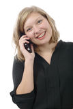 Young woman talking to someone on her phone Royalty Free Stock Image