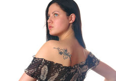 Young woman with tattoo Royalty Free Stock Images