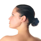 Young woman with tattoo profile Royalty Free Stock Photography