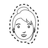 Young woman teacher character Royalty Free Stock Images