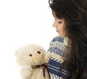 Young woman with Teddy bear Stock Image