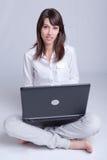 Young woman telecommuting Royalty Free Stock Photo