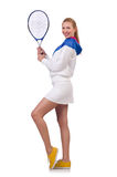 Young woman. With tennis raquet Stock Images