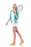 Young woman. With tennis raquet Stock Photography