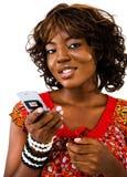 Young woman text messaging Stock Photos