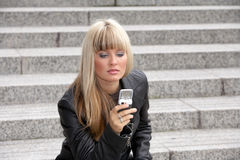 Young Woman Text Messaging Stock Image