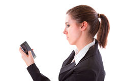 Young woman texting on the phone Royalty Free Stock Images