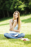 Young woman thinking. Royalty Free Stock Image