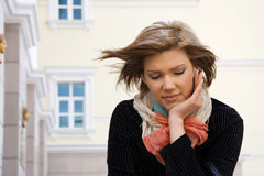Sad young fashion woman in depression Royalty Free Stock Photos