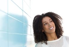 Young woman thinking looking up Stock Images