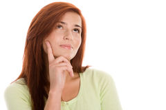 Young woman thinking Royalty Free Stock Image