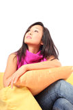 Young woman in thought Stock Photo