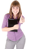 Young woman thumb up Royalty Free Stock Images