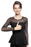 Young woman with thumb up Royalty Free Stock Photo