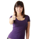 Young woman with thumbs up Royalty Free Stock Images