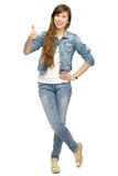 Young woman with thumbs up Stock Photos