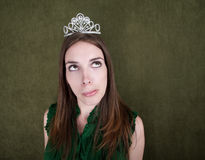 Young Woman with Tiara Royalty Free Stock Photos