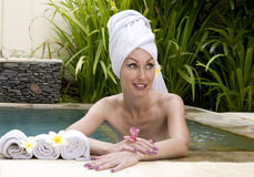 The young woman to Spa procedures Stock Image