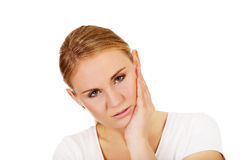 Young woman with tooth ache.  Royalty Free Stock Photo