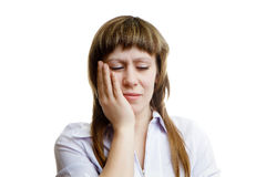 Young woman with a toothache Royalty Free Stock Image