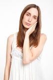 Young woman toothache Stock Image