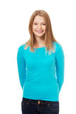 Young woman with toothy smile. Happy teen woman with toothy smile Royalty Free Stock Photos