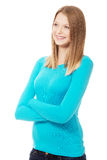 Young woman with toothy smile. Happy teen woman with toothy smile Stock Photos