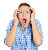 A young woman totally astonished at something Stock Image
