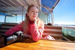 Young woman tourist stock photos