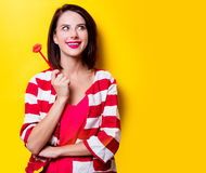 Young woman with toy Royalty Free Stock Photo