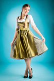 Young woman in traditional clothes - dirndl Royalty Free Stock Image
