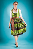 Young woman in traditional clothes - dirndl Stock Photo