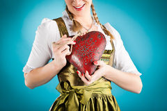 Young woman in traditional clothes - dirndl Stock Photos