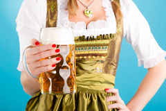 Young woman in traditional clothes  or dirndl Stock Image