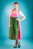 Young woman in traditional clothes - tracht Stock Photography