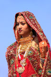 Young woman in traditional dress taking part in Desert Festival, Stock Image
