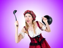 The young woman in traditional german costume Stock Photo