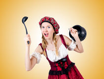 Young woman in traditional german costume Stock Photography