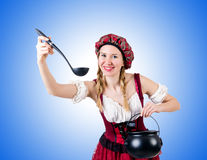 Young woman in traditional german costume Stock Photos