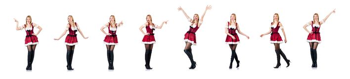 The young woman in traditional german costume stock photography