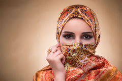 The young woman in traditional muslim clothing Royalty Free Stock Images