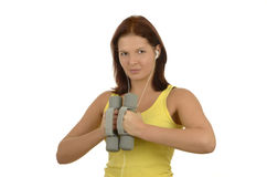 Young woman in training Stock Photography