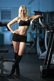 Young woman training Stock Photos