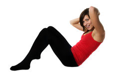 Young woman training fitness. Fitness and sport. Young woman training fitness stock photos